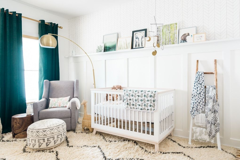 Natural Baby Nursery Design Reveal Natural Baby Nursery Baby Boy Rooms Nursery Room Boy