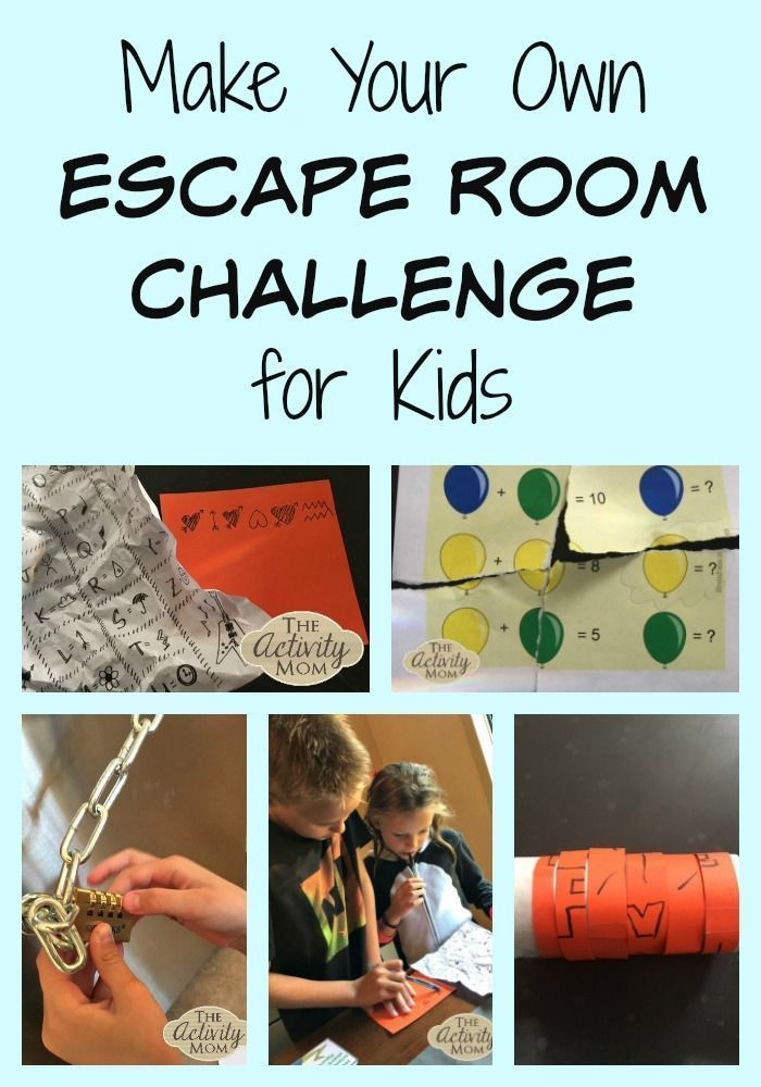 Make Your Own Escape Room Challenge for Kids - The Activity Mom - #activity #challenge #escape #Kids #Mom #ROOM