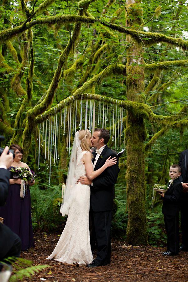 Woodsy Rustic Glamorous Washington State Wedding By Michele Waite 2