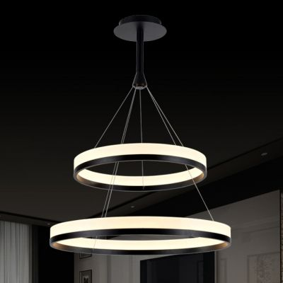 Modern Pratical Simple Led Round Pendant In Two Tiers Antique Ceiling Lights Crystal Ceiling Light Led Pendant Lights