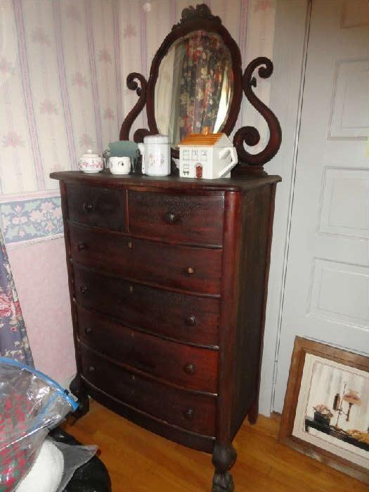 Antique Highboy Dresser With Mirror At Crown City Estate Www Crowncityestates