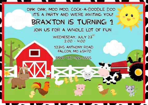 Free Printable Barnyard Farm Invitation Template Like This Item - birthday invitation card empty