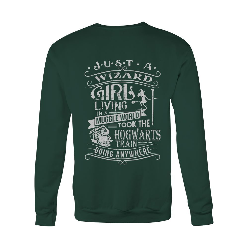 Harry Potter - JUST A WIZARD GIRL - Unisex Sweatshirt T Shirt - TL01096SW
