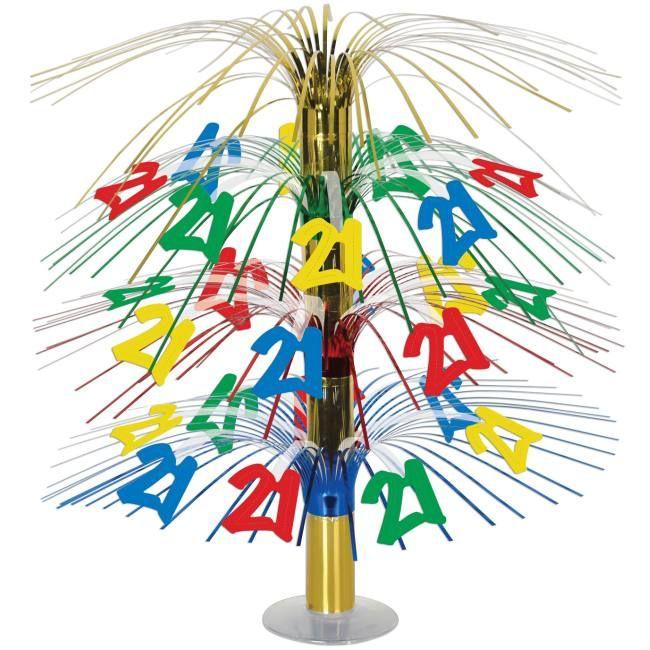 21st Birthday Cascade Centerpiece #21stbirthdaysigns