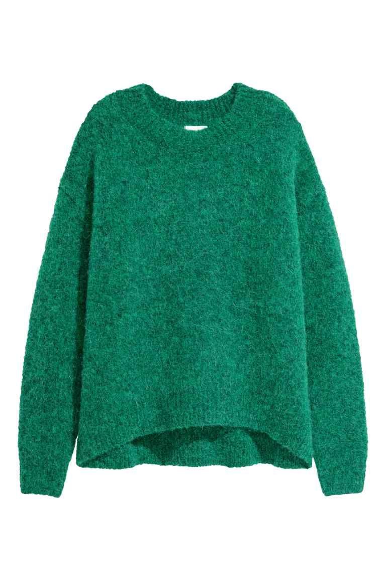 4558b0407783 Jersey en mezcla de lana | sweater | Lana verde, Mezcla de lana y ...