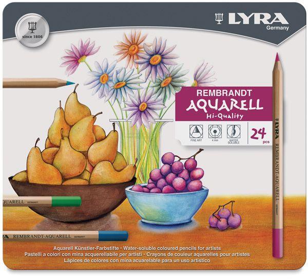 Lyra Rembrandt Aquarell Pencil Set Assorted Colors Set Of 24