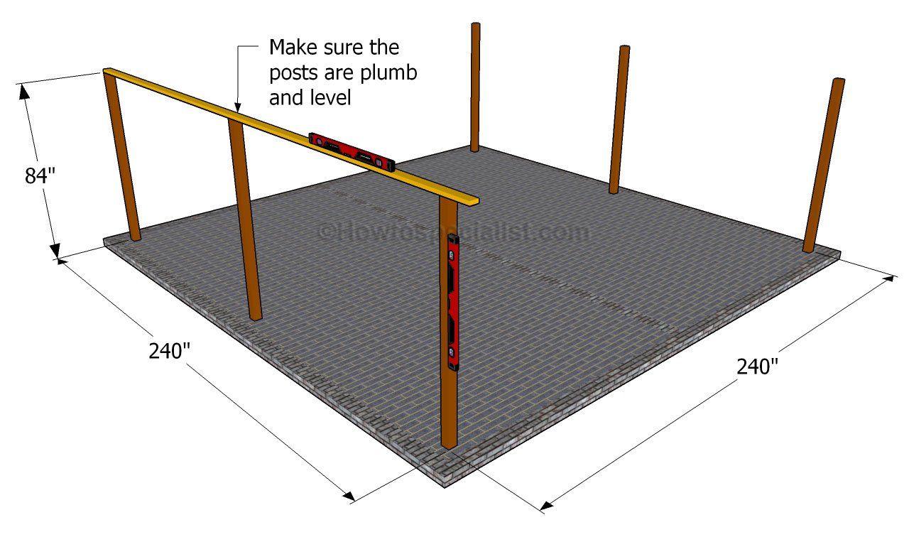 How to build a double carport Double carport, Carport