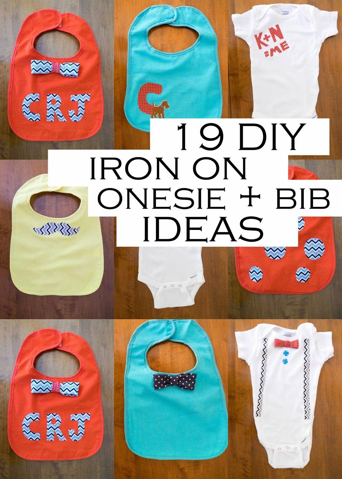 19 Iron On Baby Onesie + Bib Ideas | Baby bibs, Onesies ...