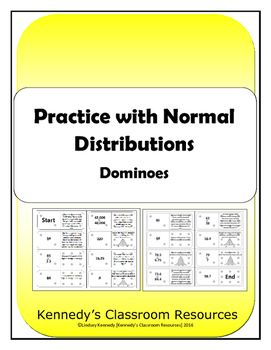 Practice With Normal Distributions Dominoes Normal