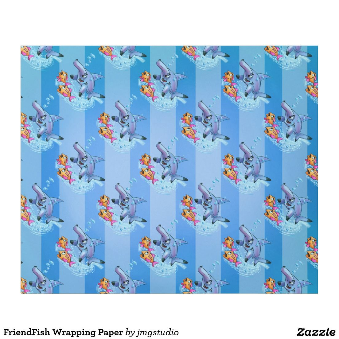 FriendFish Wrapping Paper