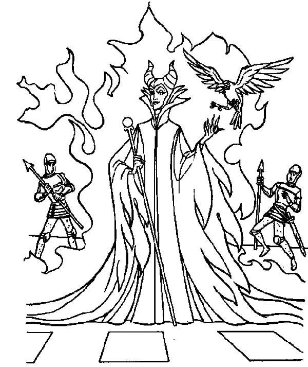 Maleficent, : Maleficent Appears at Kings Palace Coloring Pages ...
