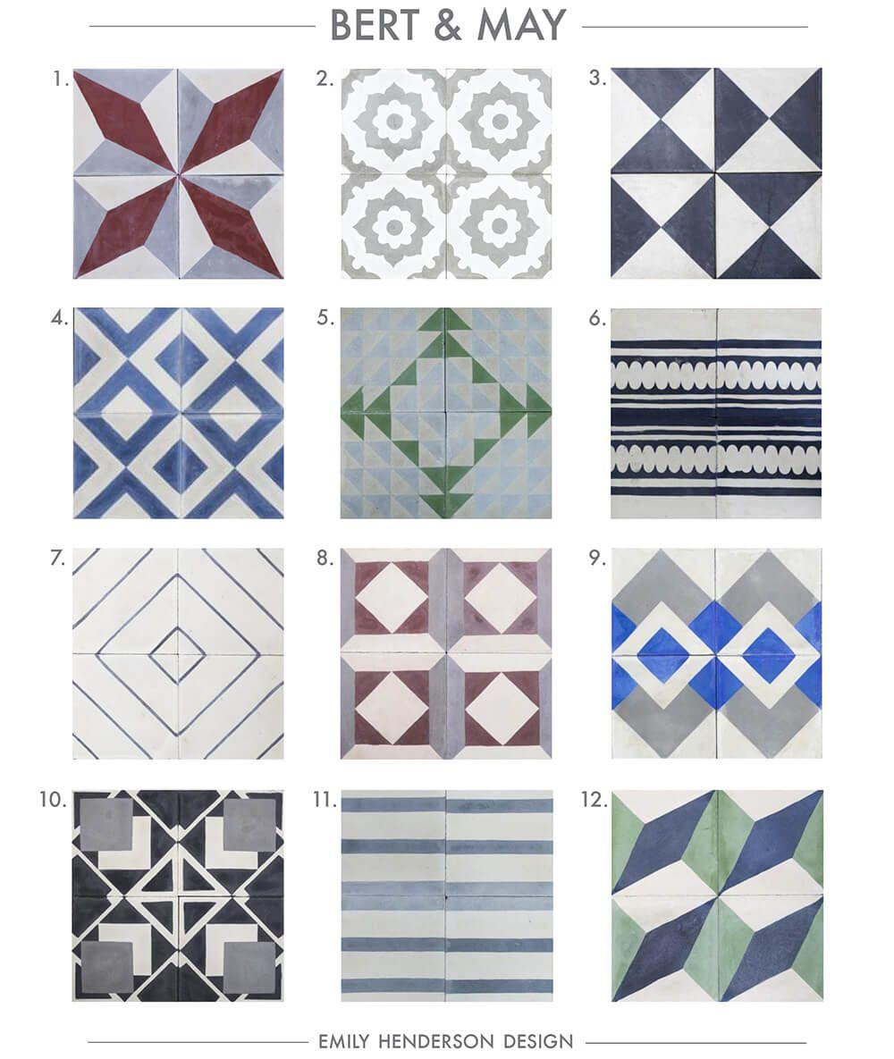 Where To Buy Cement Tiles (Emily Henderson) | Cement, Tile flooring ...