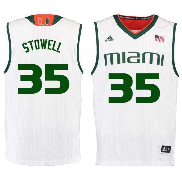 e6f4e450b55d Men  35 Chris Stowell Miami Hurricanes College Basketball Jerseys Sale-White
