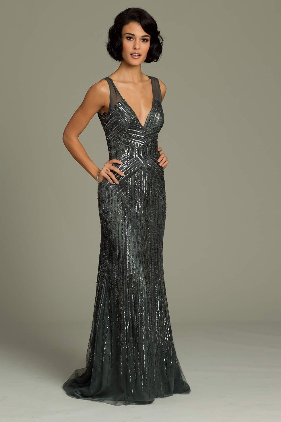 Jovani Fit And Flare Gown How Gatsby Is This Ugh Love I Long