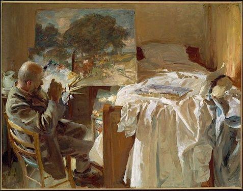"""An Artist in his Studio""  John Singer Sargent's painting of Ambrogio Raffele"