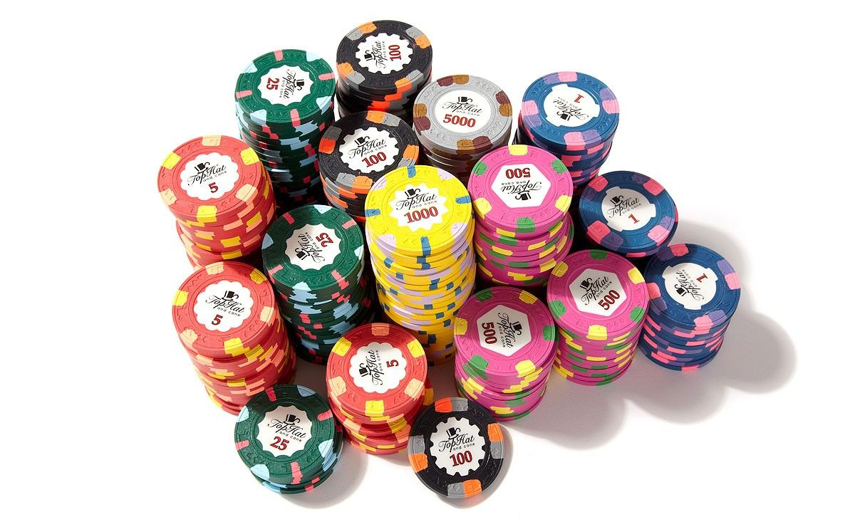 Paulson Top Hat & Cane - clay tournament poker chips | Poker Gear ...