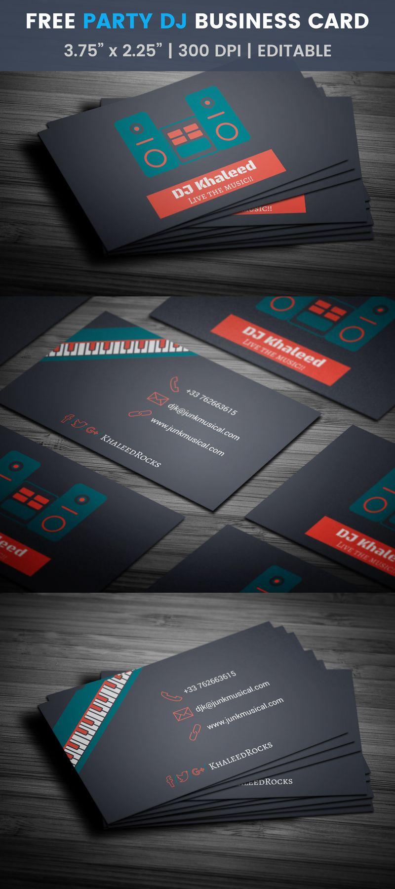 Party Dj Business Card Template Sj Sound Cassette Free Business