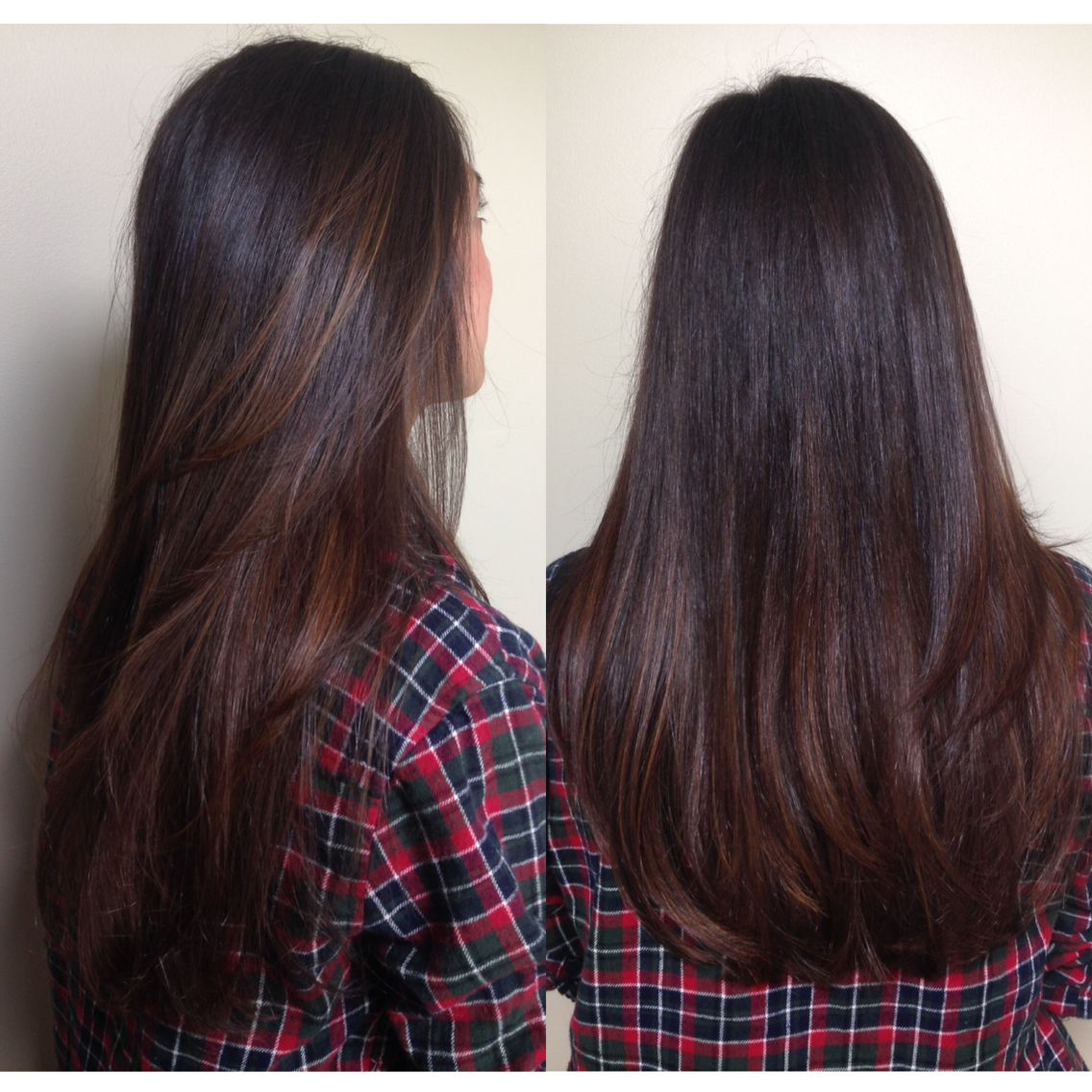Long Dark Brown Hair Color With Highlights And Layers Ig Ashleymichellebeaut Balayage Hair Brunette Straight Balayage Straight Hair Brunette Balayage Hair