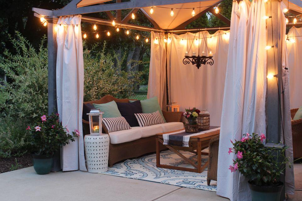 Summer Home Tour 2016 | Pergola patio, Outdoor decor, Patio
