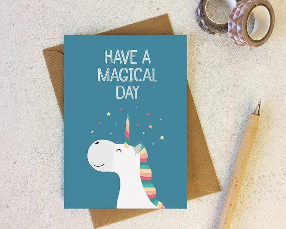 Unicorn Birthday Card Cute Unicorn Birthday Happy Birthday Card