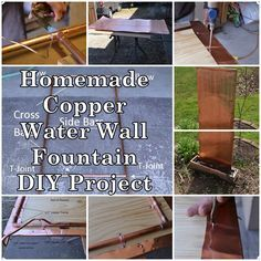 Homemade Copper Water Wall Fountain DIY Project Homesteading  - The Homestead… #fountaindiy