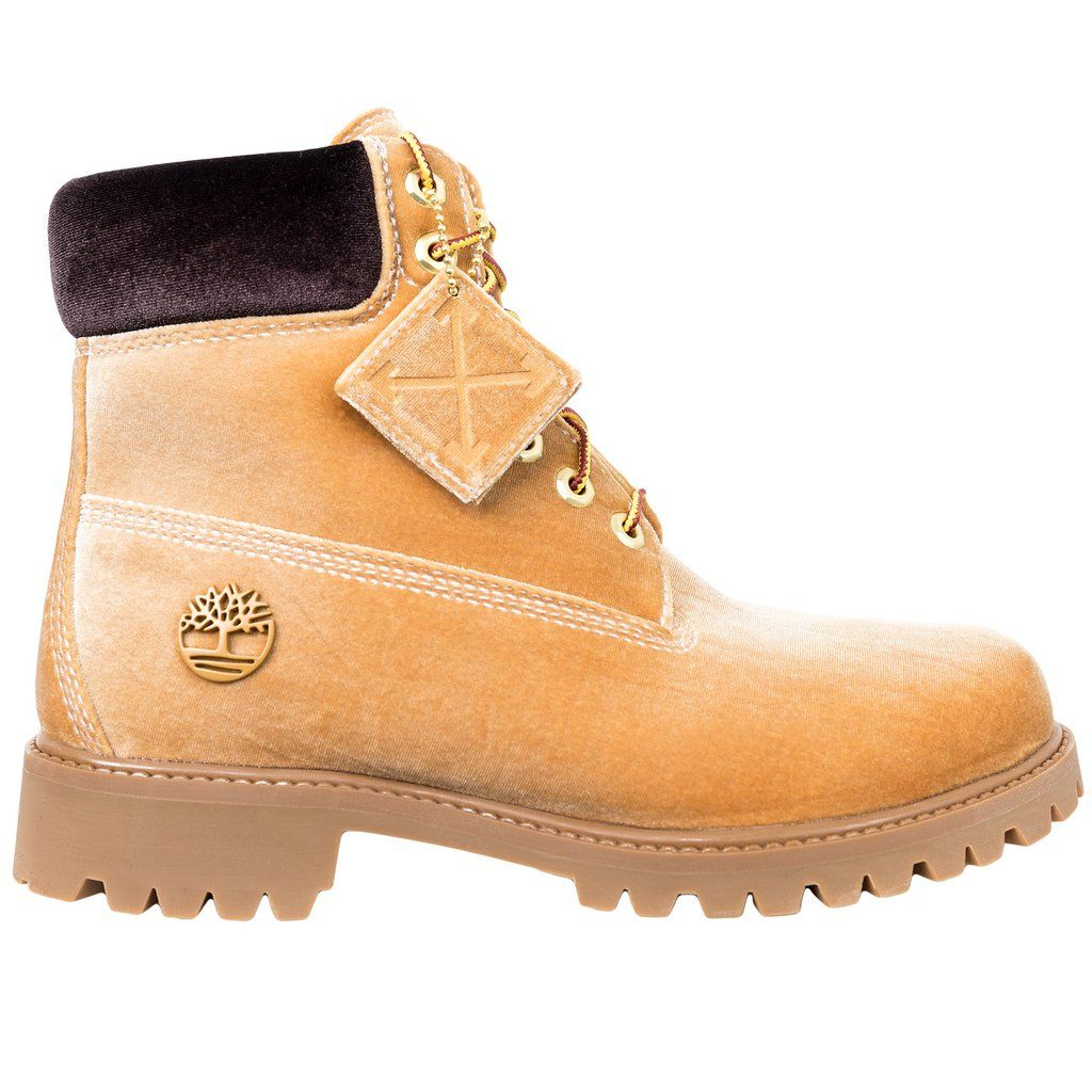 9aa97c9daabe9 Off-White Timberland Boots (Wheat). Find this Pin and more ...