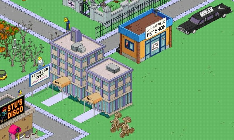 The Simpsons Ted Out Spinster City Apartments