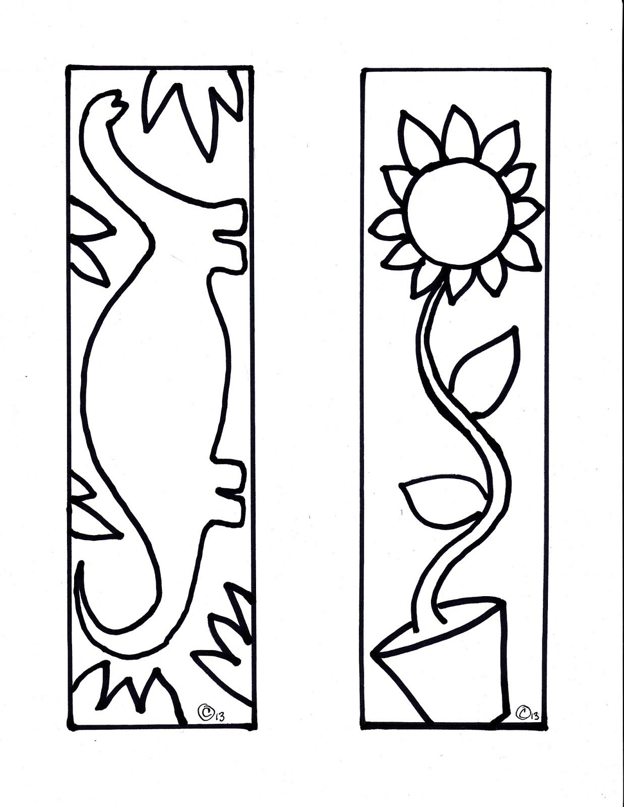 Create a one of a kind Zentangle bookmark- with free printable
