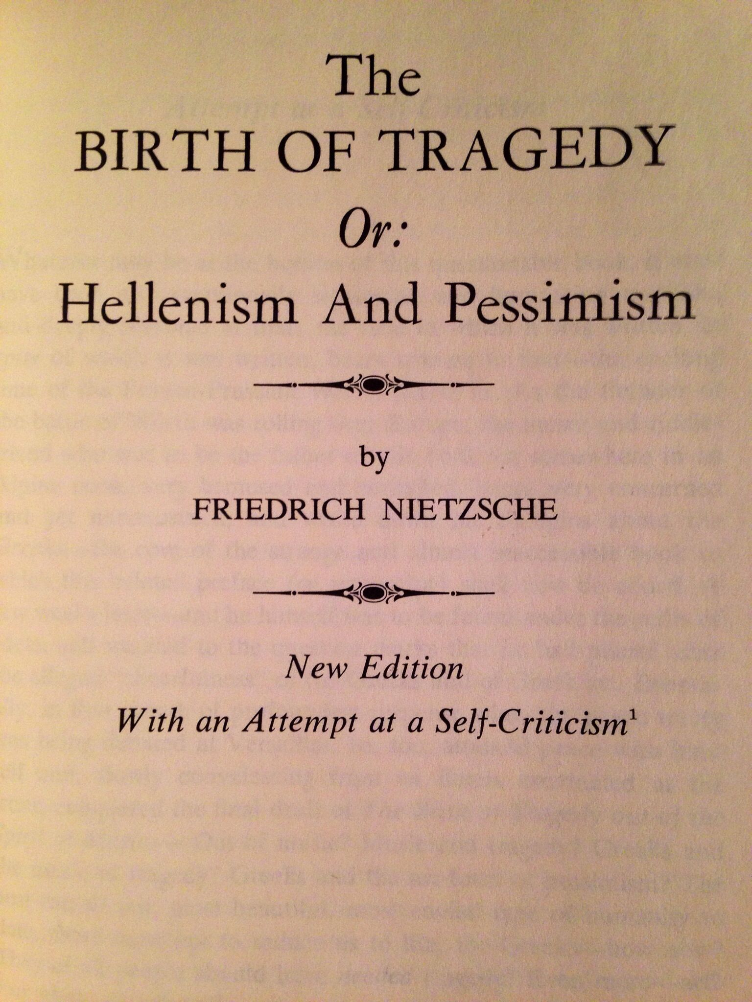 Nietzsche The Birth Of Tragedy Books Forever Forever Book