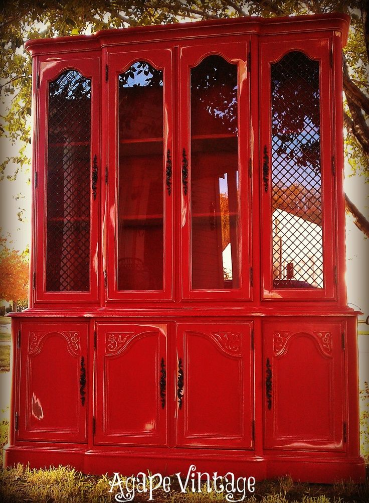 Red Distressed Furniture | Red. Oil Rubbed Bronze. Off White. Distressed. | Painted  Furniture | Painted Furniture | Pinterest | Red Distressed Furniture, ...