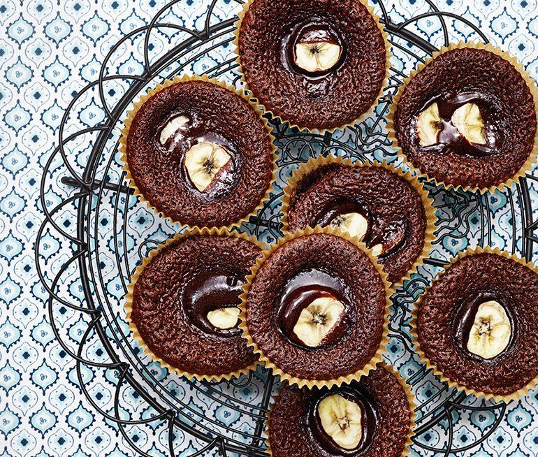 kladdkakemuffins med chokladbitar