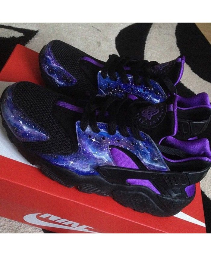 sports shoes 0c824 a1051 Nike Air Huarache Purple Black Galaxy Trainer