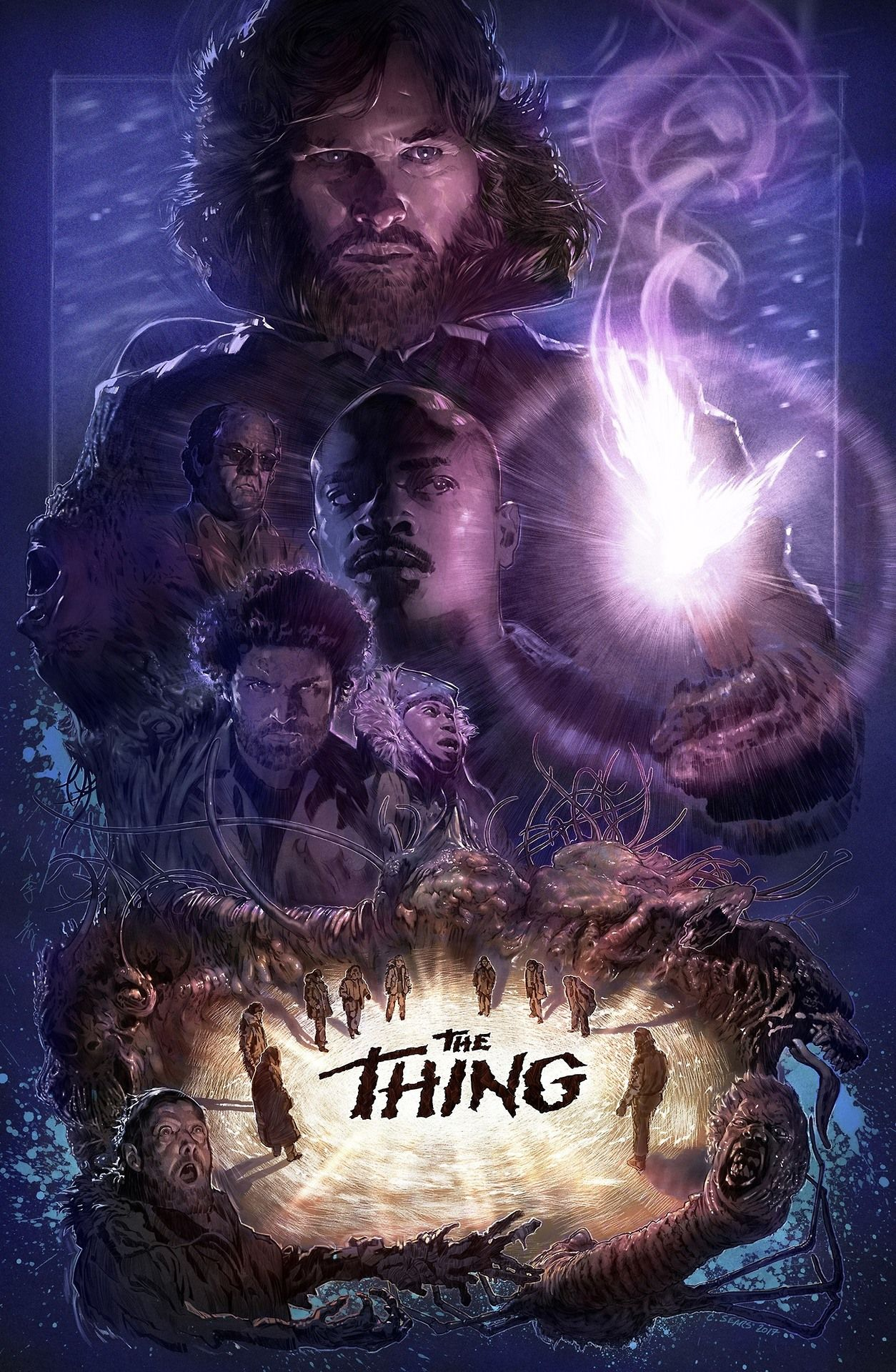 horror movie art movie poster art