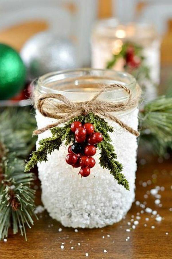 Bastelideen zu Weihnachten - dekorieren Sie dezent Ihr Zuhause #weckgläserdekorieren