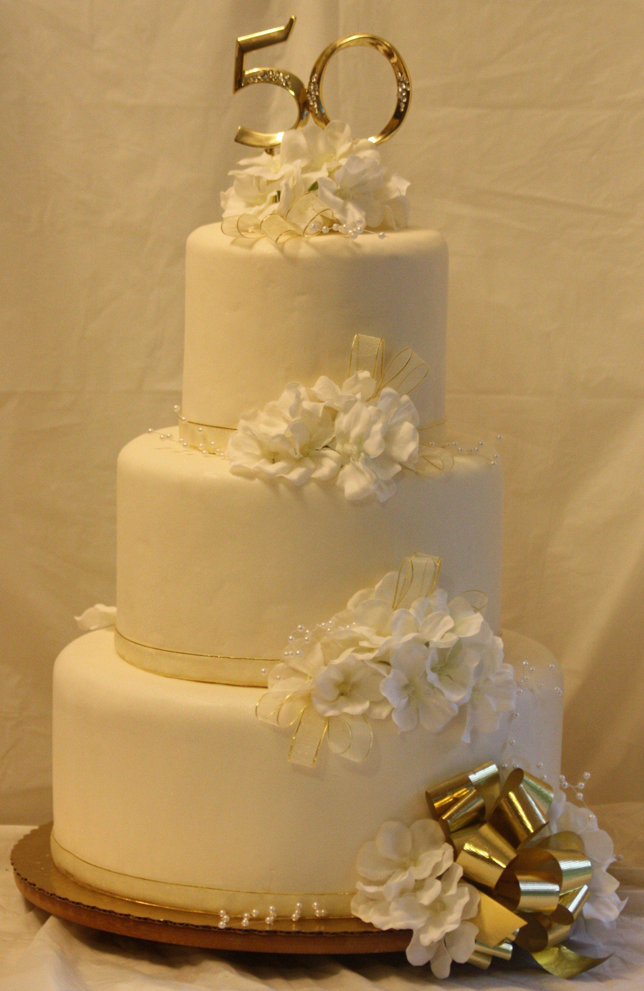 50th Wedding Anniversary Cake Susie's Sweet Creations