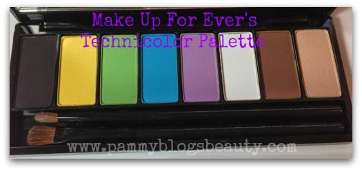 Pammy Blogs Beauty: Get colorful for Spring with Make Up For Evers NEW Technicolor palette