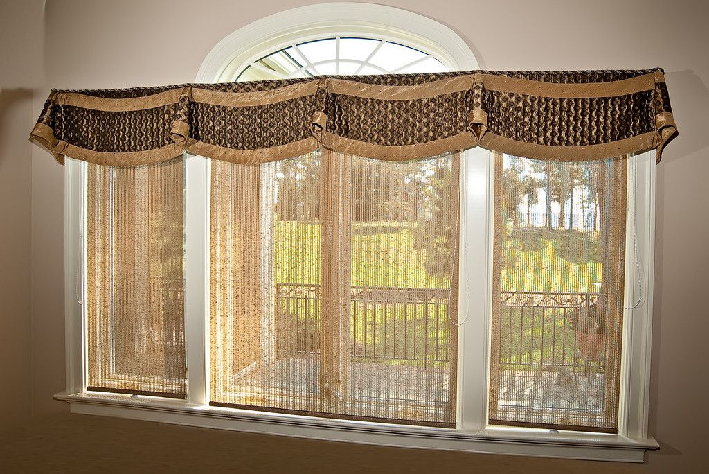 Mock roman valance window treatment window treatments for Persnickety home designs