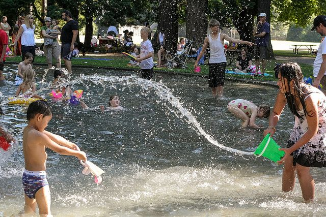 Your Guide To Seattle S Coolest Spray Parks Wading Pools Beaches Kids Playground Kids Backyard Playground Playground