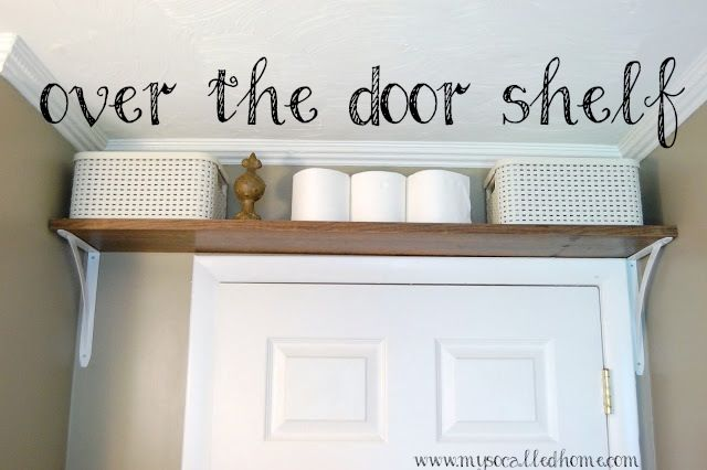 Install An Over The Door Shelf In Your Bathroom To Maximize