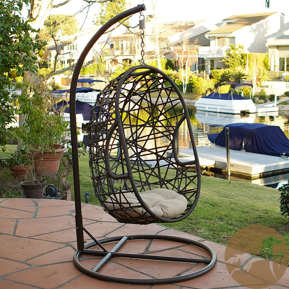 Christopher Knight Home Swinging Egg Outdoor Wicker Chair | Overstock.com  Shopping   The Best