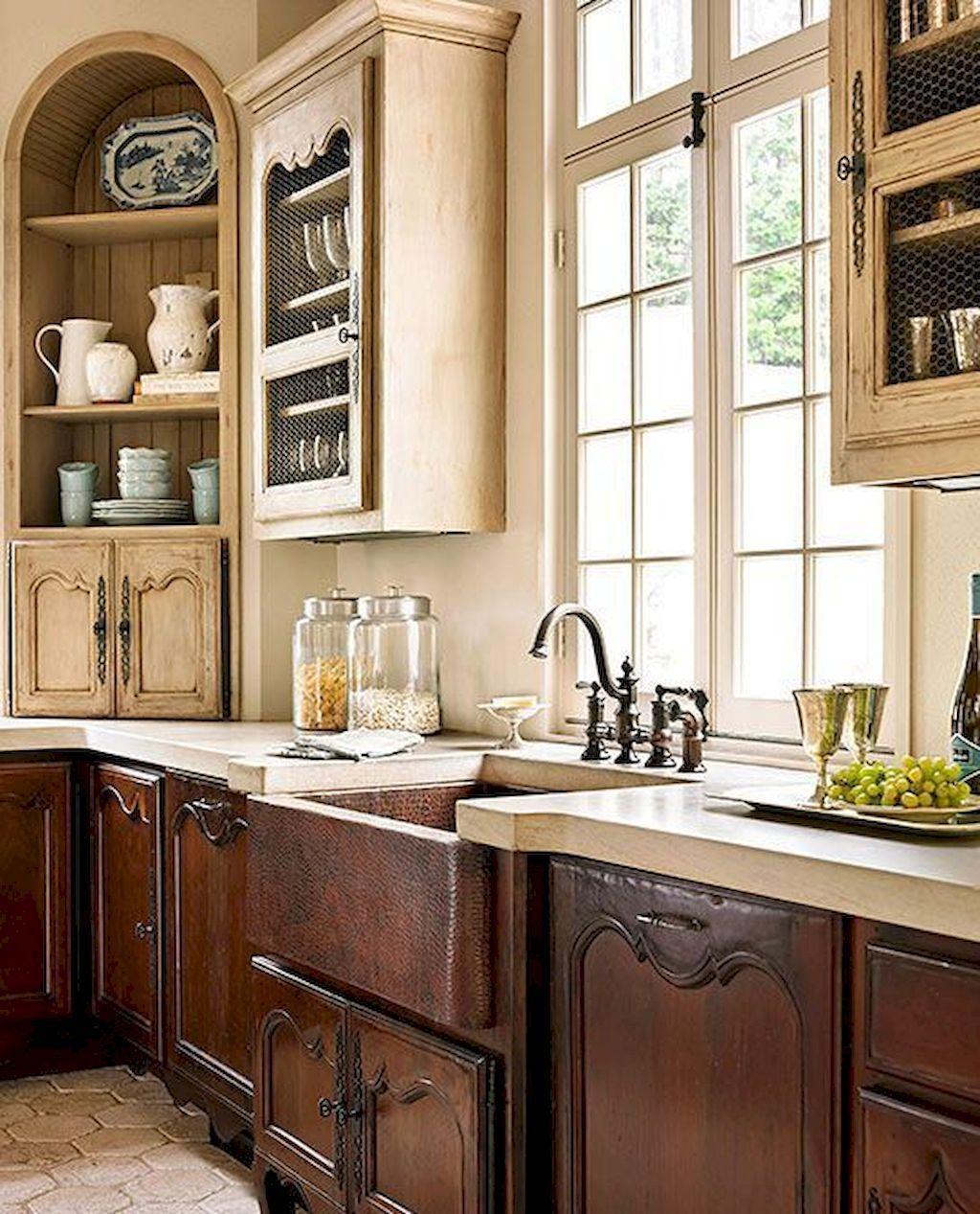 113 modern rustic farmhouse kitchen cabinets ideas french country kitchens french kitchen on farmhouse kitchen hutch id=92717