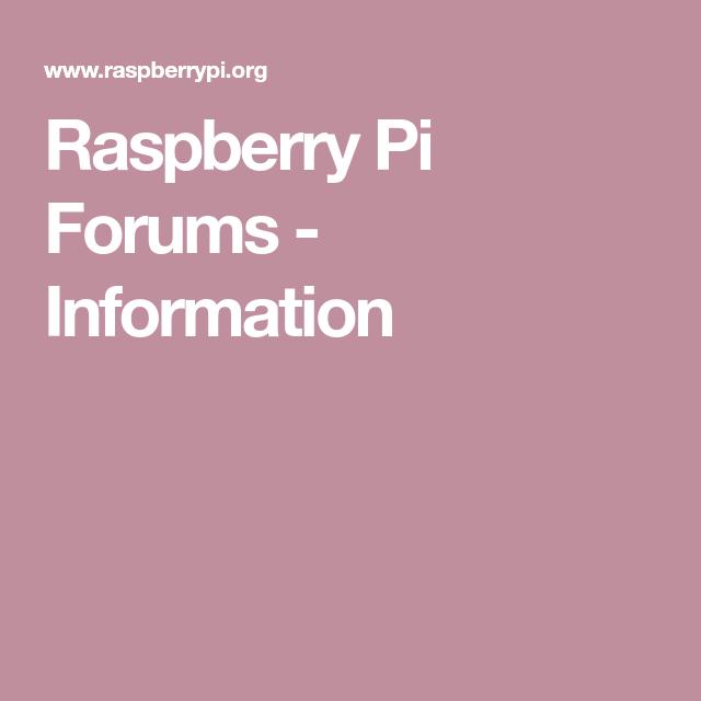 Raspberry Pi Forums - Information | Aquarium Monitoring | Raspberry