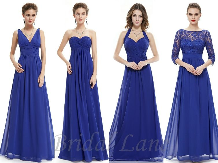 Royal blue bridesmaid dresses - Bridal Lane,
