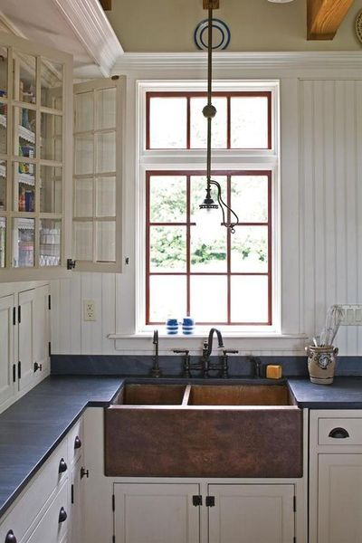 Copper Farmhouse Sink And Soapstone Countertops Not The Copper