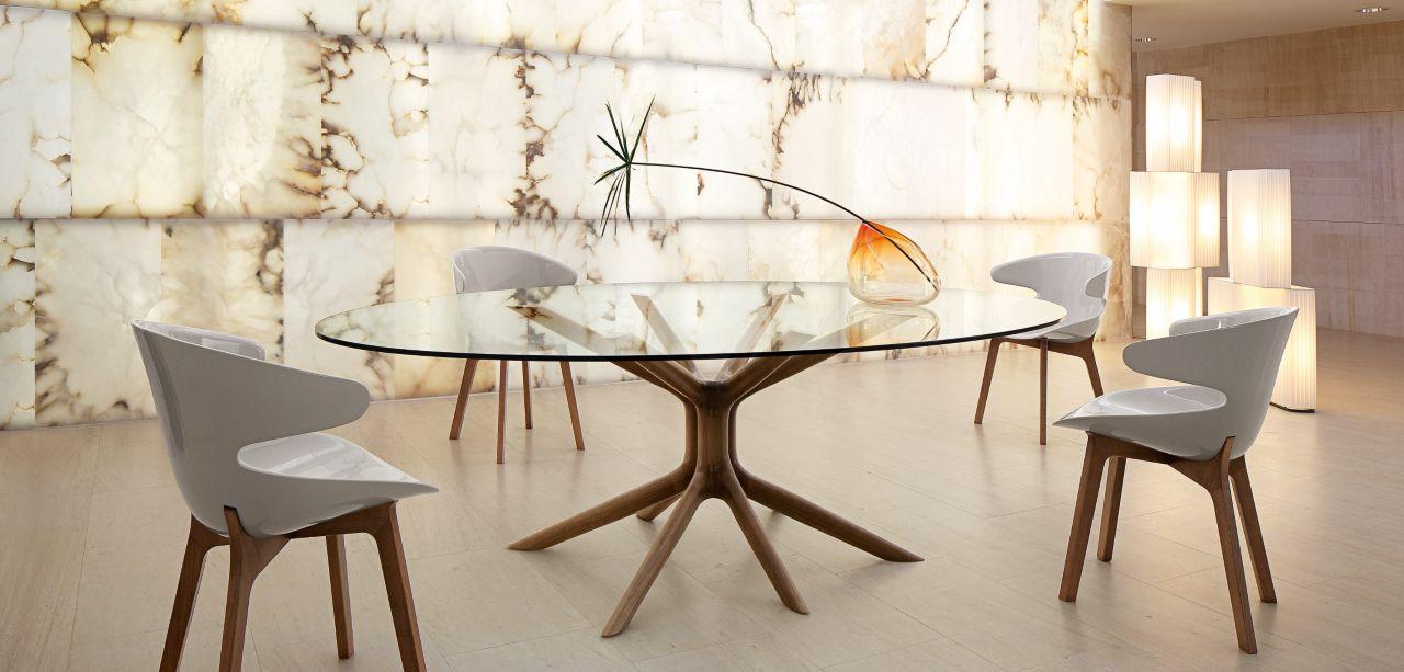 Mangrove Dining Table Roche Bobois Mesas De Comedor Ovalada Mesa De Comedor Contemporánea Mesas De Vidrio Comedor