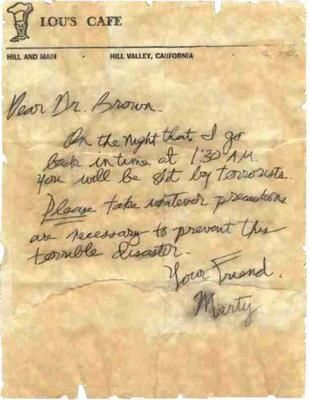Marty'S Letter To Doc Envelope (Back To The Future: Part I