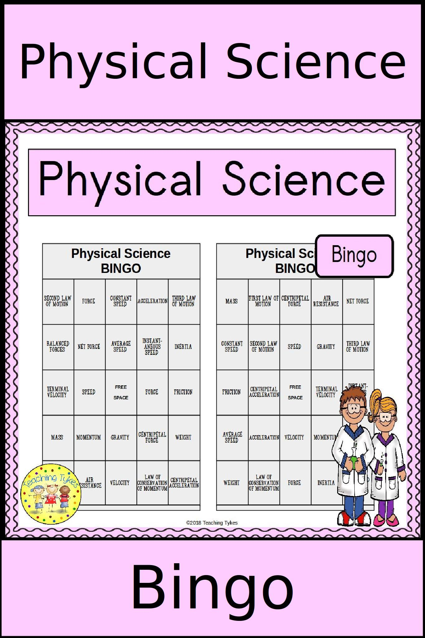 Need A Fun Activity To Review Physical Science Vocabulary