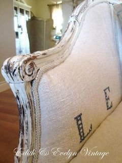 the french sofa redo, painted furniture, Painted distressed finish