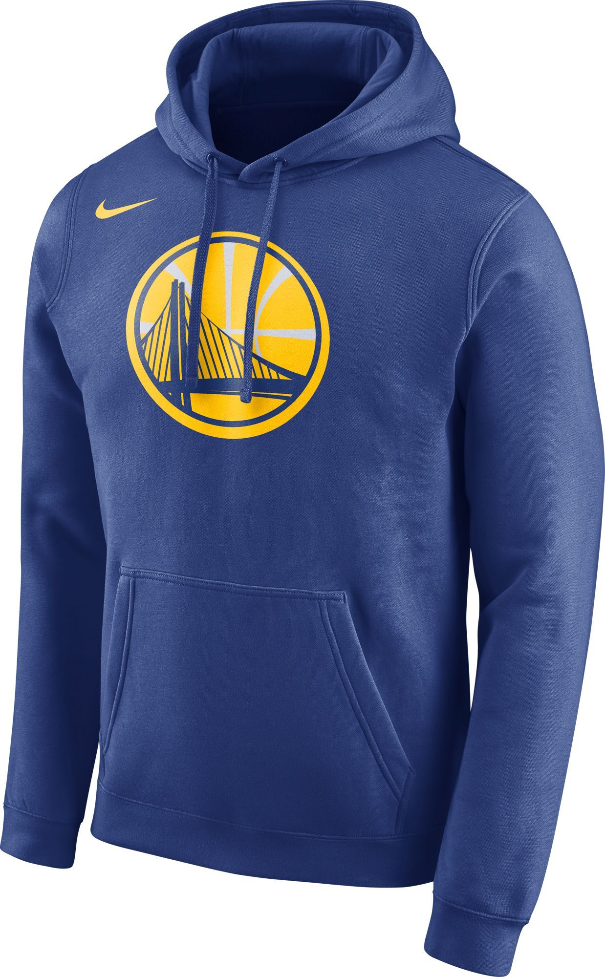 0025fc14e Nike Men's Golden State Warriors Club Royal Pullover Hoodie, Size: Medium,  Team