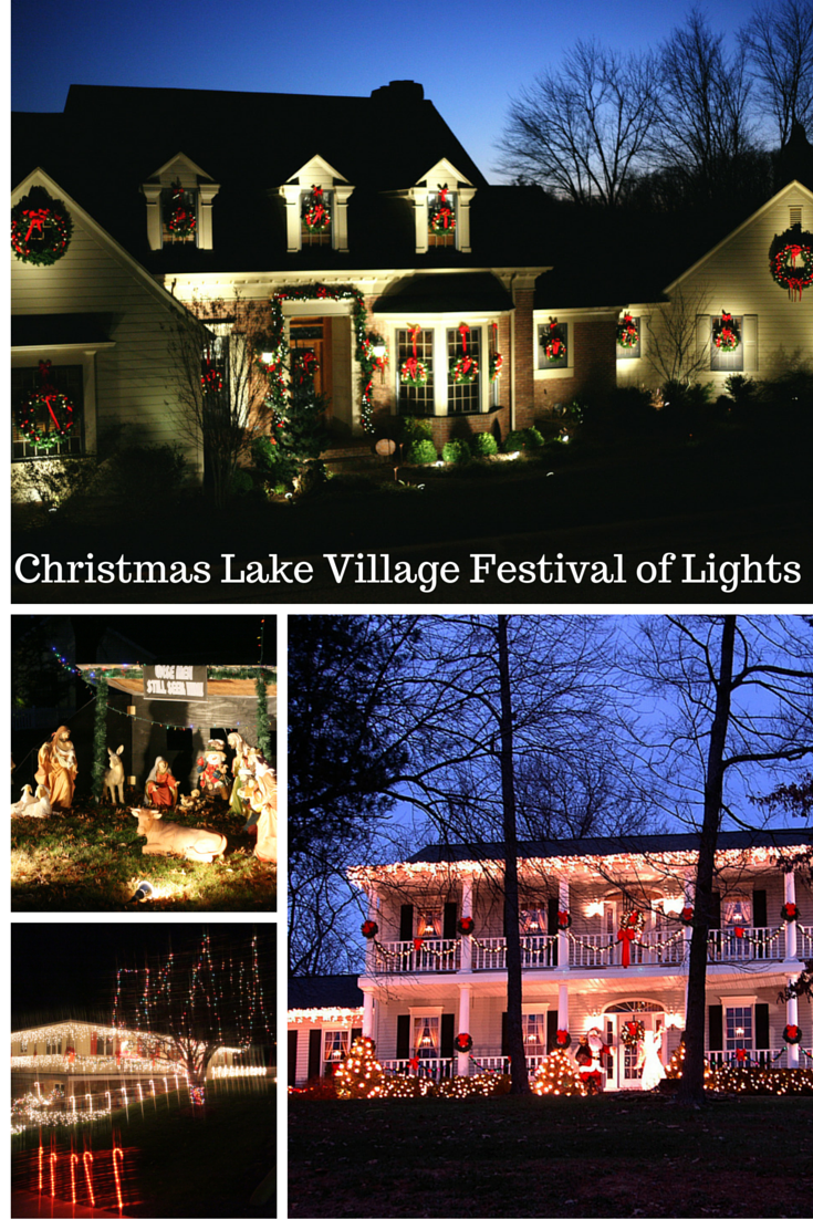 tour the christmas lake village festival of lights during the santa claus christmas celebration in santa